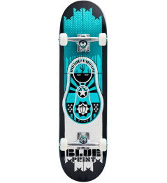 "Skateboard Blueprint Babushka V2 8.25"" Teal"