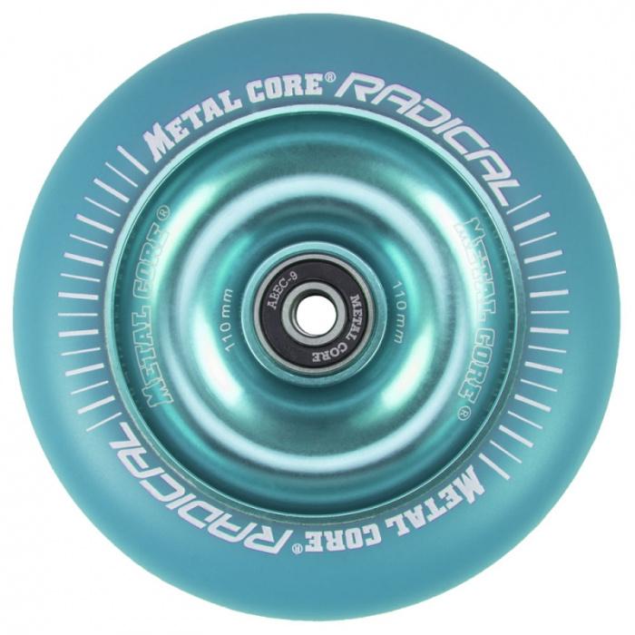 Núcleo metálico Radical fluorescente 110 mm rueda azul