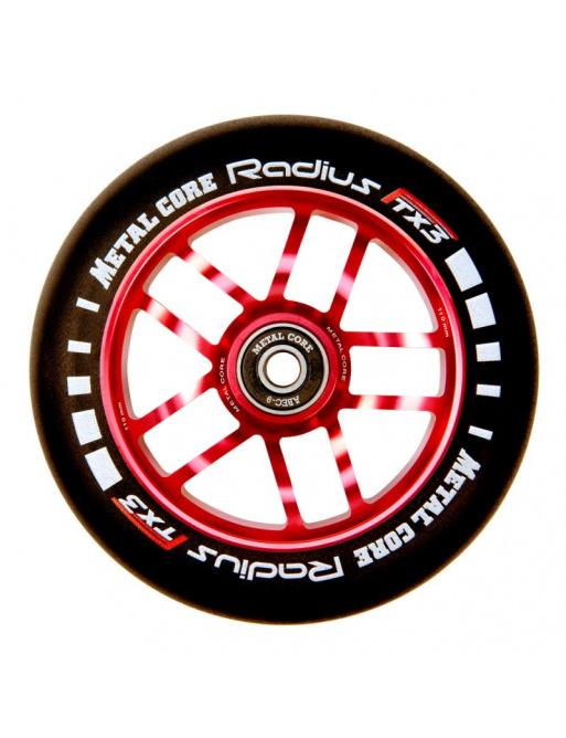 Wheel Metal Core Radius 110mm wheel red