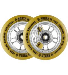Kolečka North Wagon 110mm Silver/Gum 2ks
