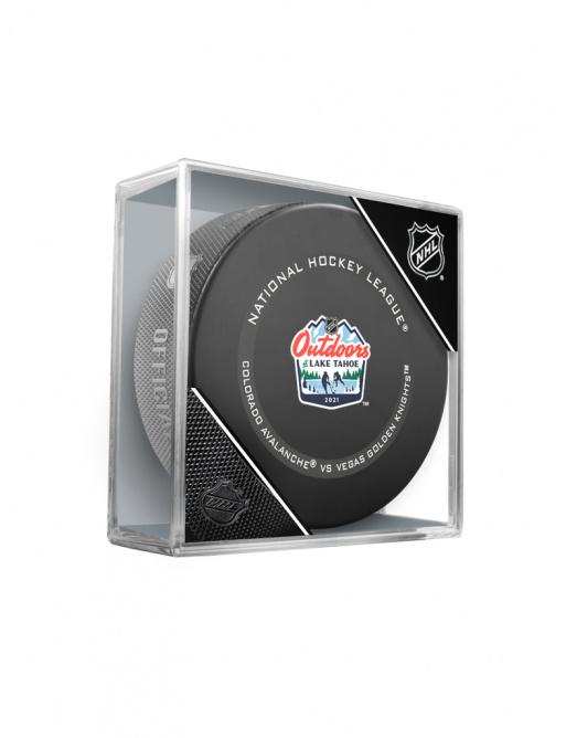 Fanouškovský puk NHL Lake Tahoe Official Game Puck (1ks)