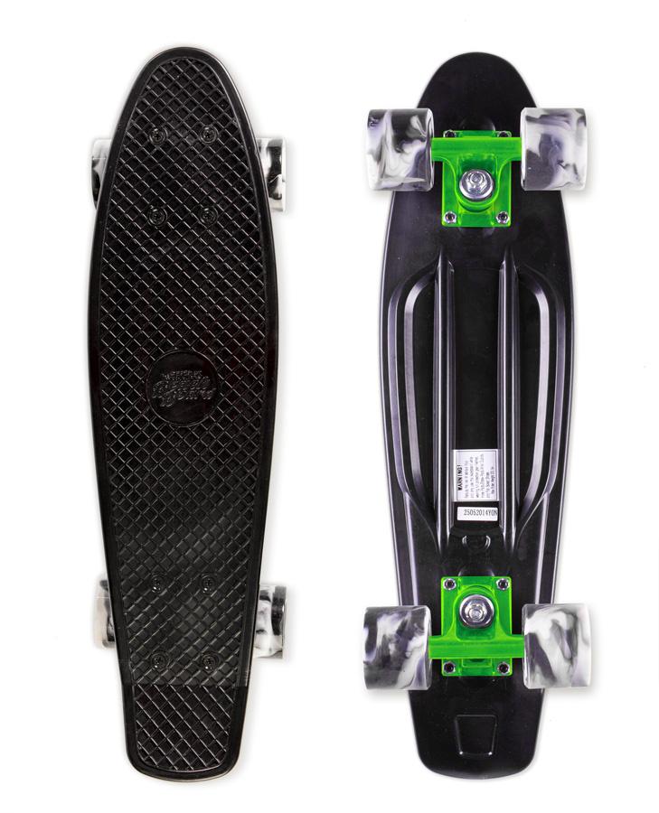 Skateboard Street Surfing BEACH BOARD Wipe Out Green, černý