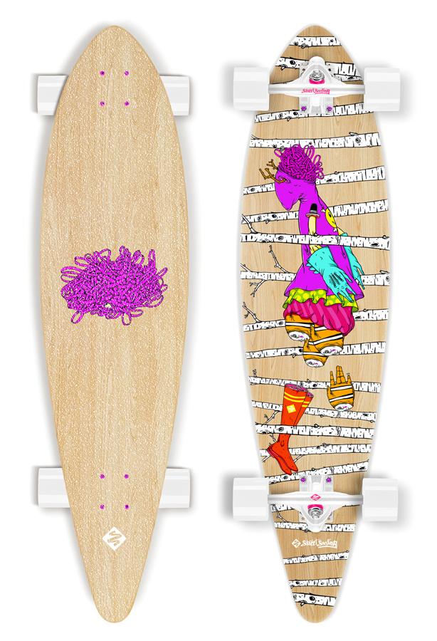 Street Surfing artist series Woods longboard