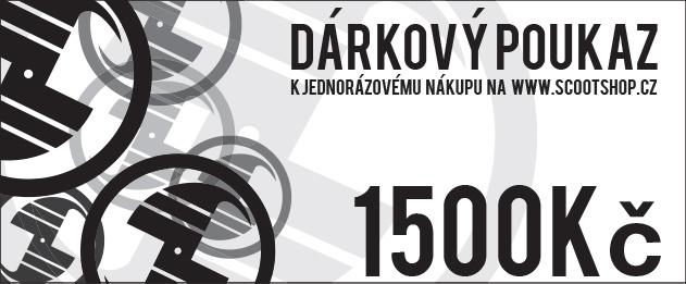 Kupon podarunkowy o wartości 1500 CZK