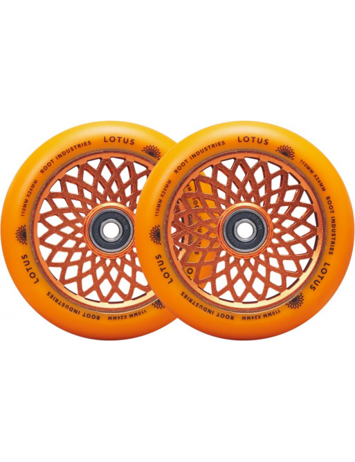 Kolečka Root Lotus 110x24mm Radiant Orange 2ks