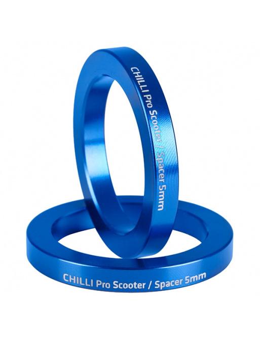 Chilli set 2 spacerů 5 mm modré