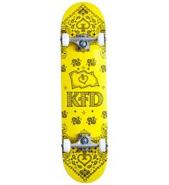 """Skateboard KFD Bandana Komplet 7.75"""" Žlutá"""