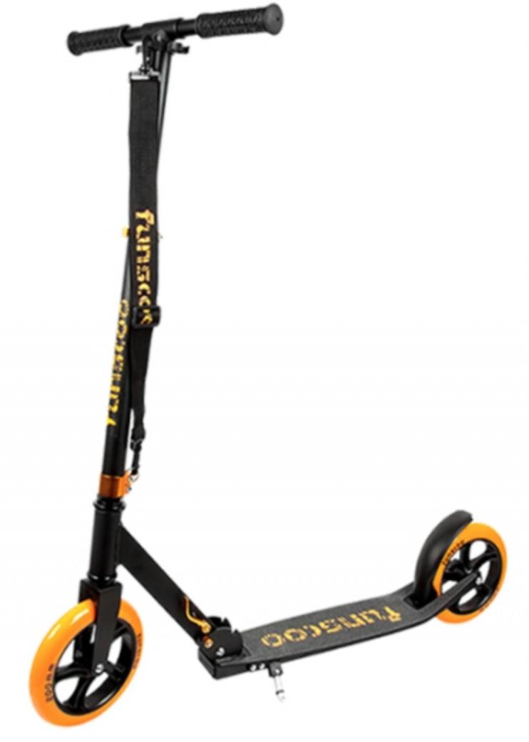 Funscoo 200 mm plegable scooter naranja