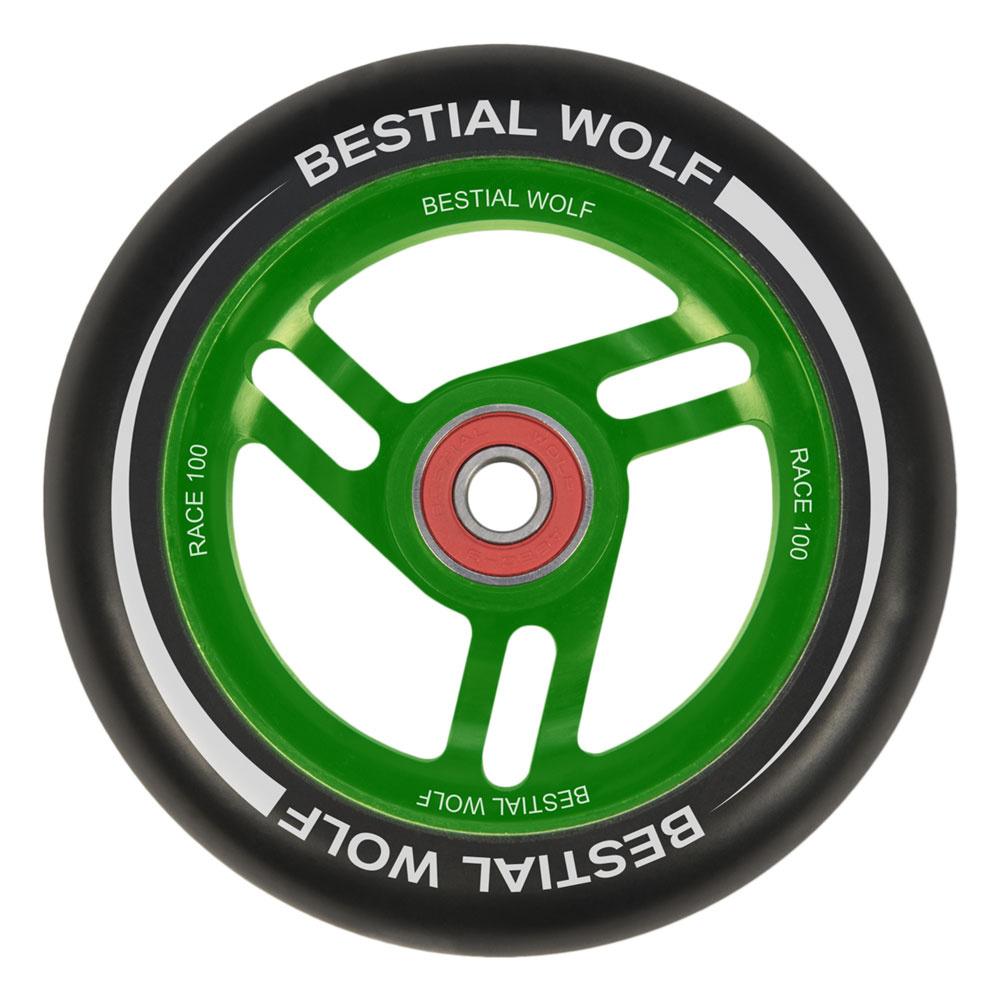 Bestial Wolf Race 100 mm rueda negro-verde