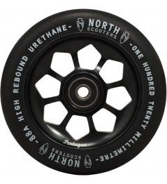 Kolečko North Pentagon 120mm černé