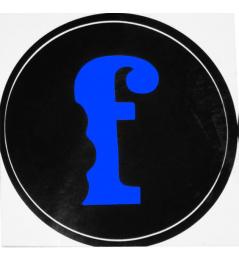 Samolepka Flavor F Modrá