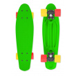 Skateboard FIZZ BOARD Green, Red-Yellow PU, green