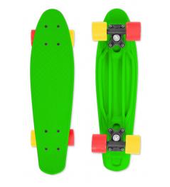 Skateboard FIZZ BOARD Green, Red-Yellow PU, zelený