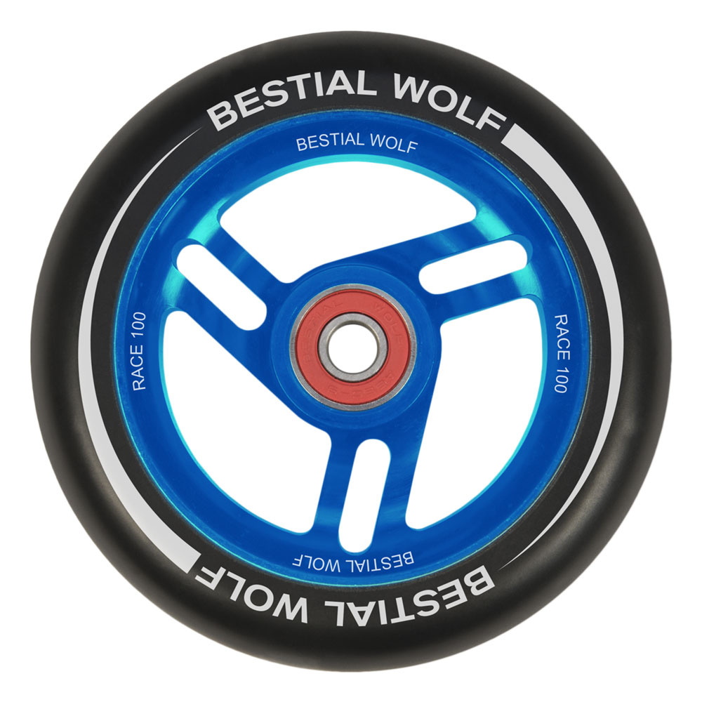 Bestial Wolf Race 100 mm wheel black-blue