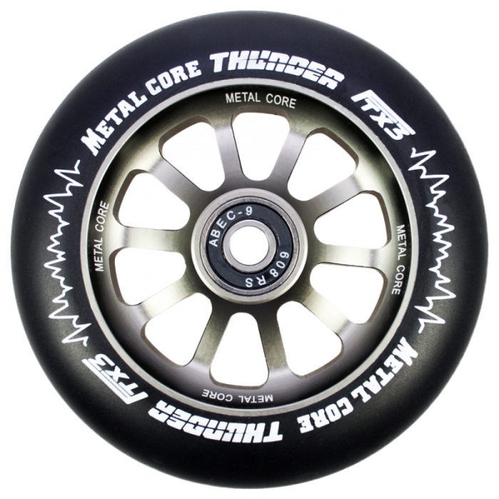 Metal Core Thunder 120 mm schwarzes Rad