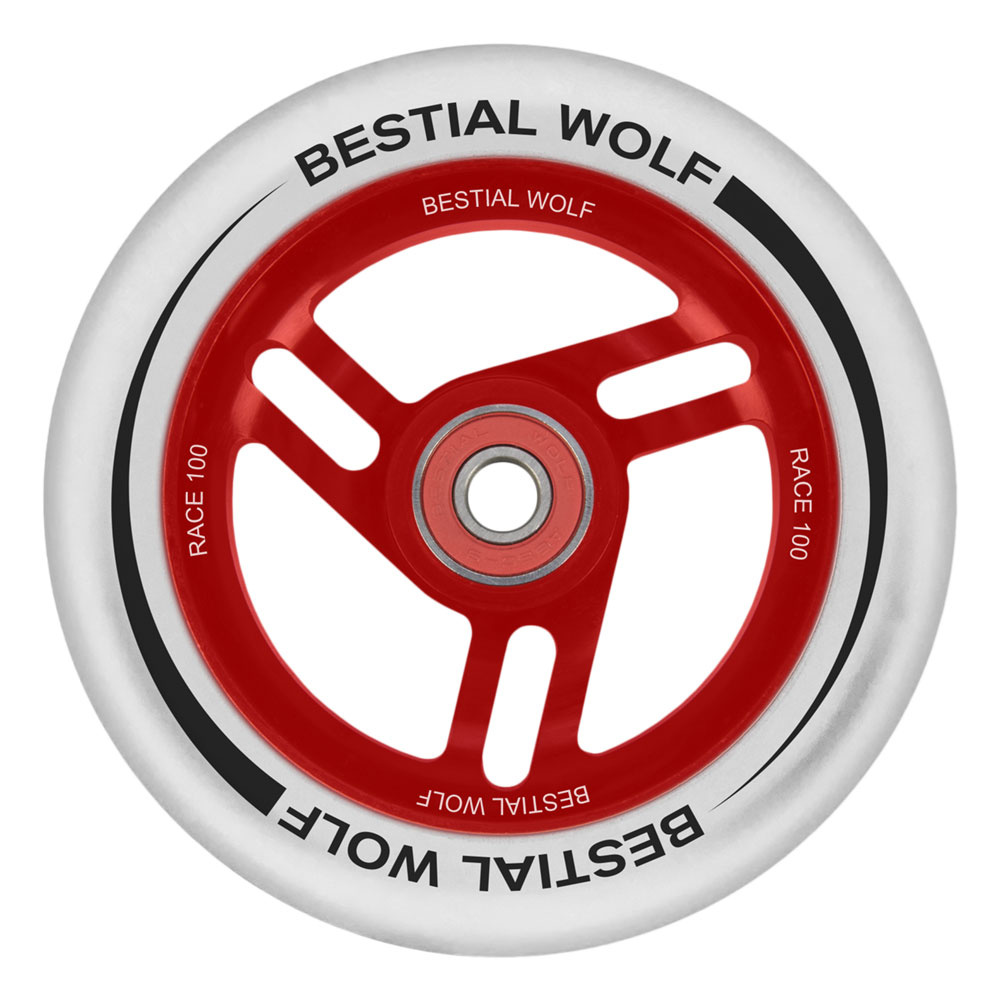 Bestial Wolf Race 100 mm white white wheel