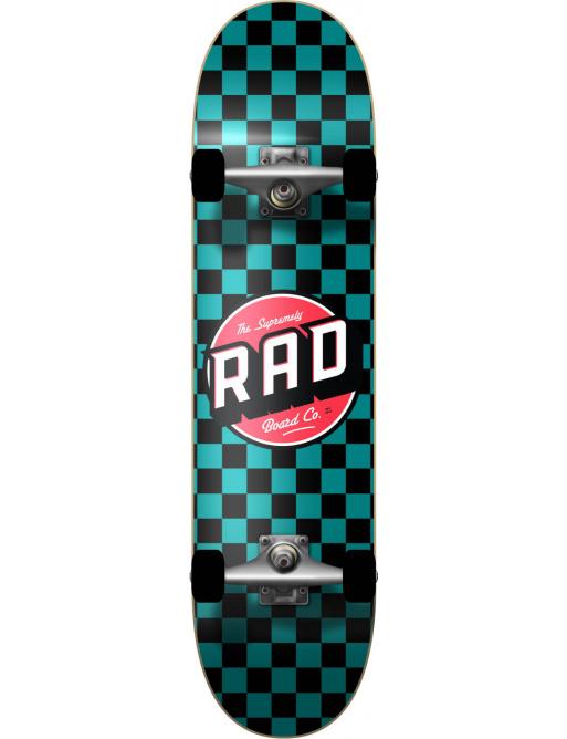 "RAD Checkers Skateboard Komplet (7.25"" | Checkers Teal)"