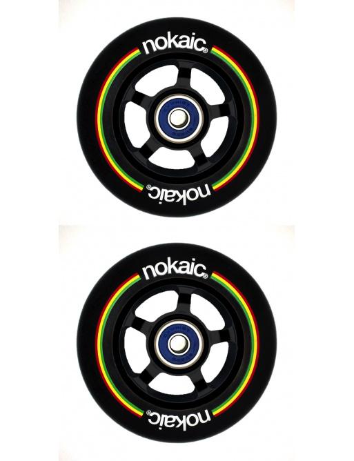 Kolečka Nokaic 100mm BLACK/BLACK 2ks