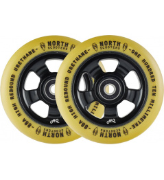 Kolečka North HQ V2 110mm Black/Gum 2ks