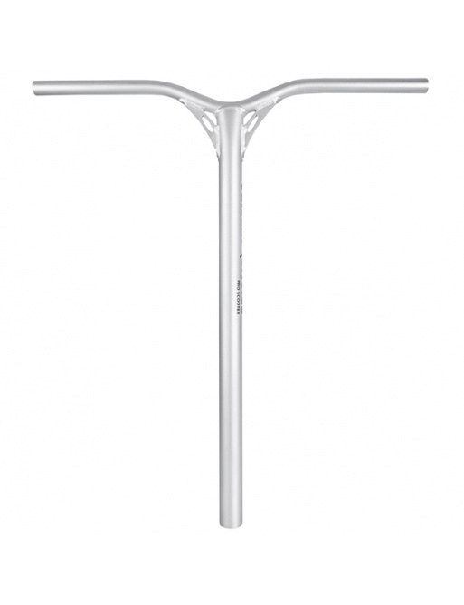 Chili Supple Zero handlebar silver: 650 mm + bar adapter
