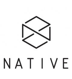Samolepka Native Logo bílá
