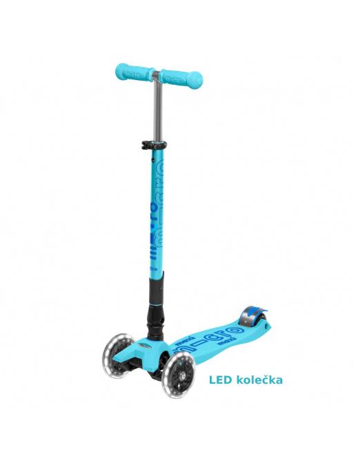 Maxi Micro Deluxe skládací - bright blue LED