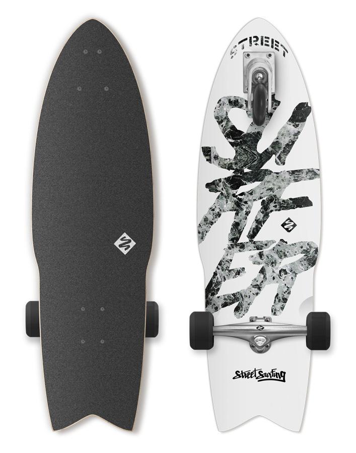 Longboard Street Surfing SHARK ATTACK Great white