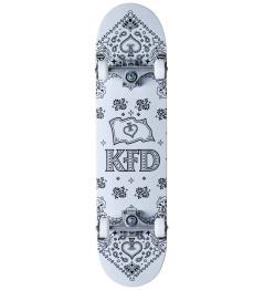 """Skateboard KFD Bandana Komplet 8"""" Bílá"""