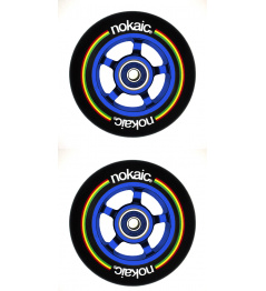 Kolečka Nokaic 100mm BLACK/BLUE 2ks