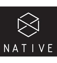 Samolepka Native Logo černá
