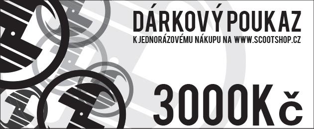 Geschenkgutschein im Wert von 3000 CZK