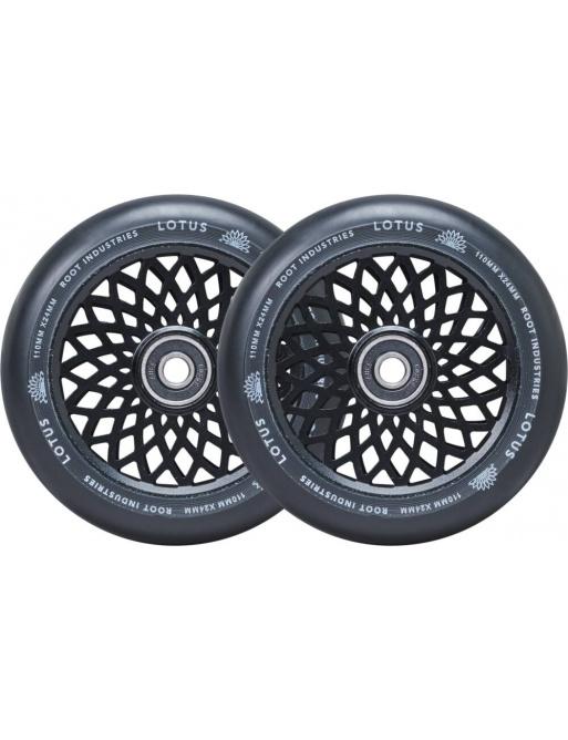 Kolečka Root Lotus 110x24mm Black/Black 2ks