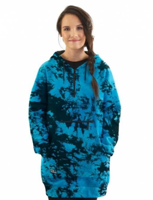 Mikina Horsefeathers Alita blue tie dye 2021 dámská vell.XL