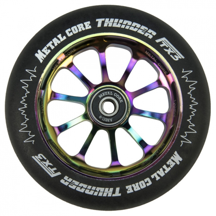 Metal Core Thunder 120 mm Regenbogenrad