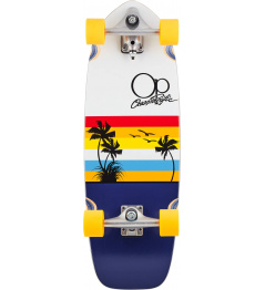 """Surfskate Ocean Pacific Sunset 29.5"""" Yellow"""