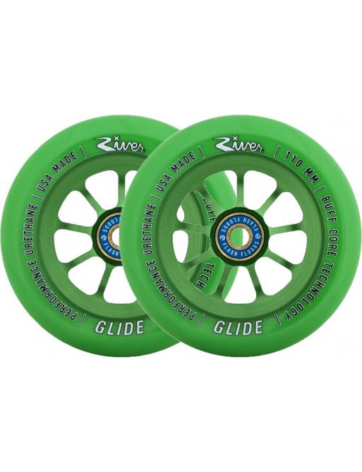 Kolečka River Glide Emerald zelená 2ks