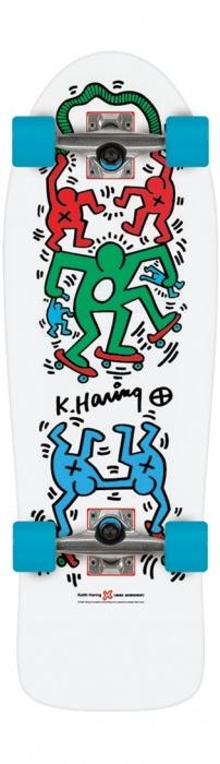 Cruiser Alien Workshop Haring Skateoutl white vell.9,75