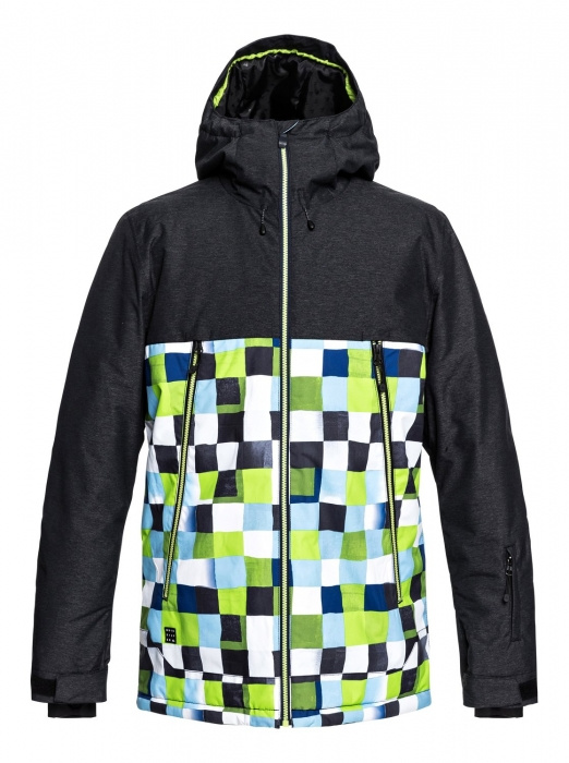 Bunda Quiksilver Sierra 181 gjz2 lime green/check atomic 2018/19 vell.L