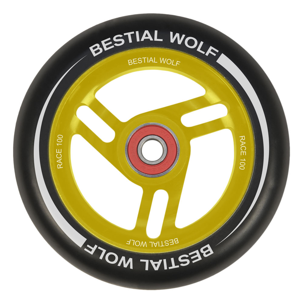 Bestial Wolf Race 100 mm circle black yellow