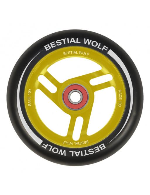 Bestial Wolf Race 100 mm kolečko černo žluté