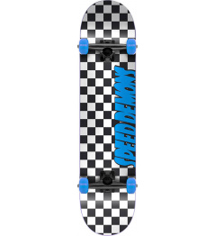 "Skateboard Speed Demons Checkers 7.25"" Blue"