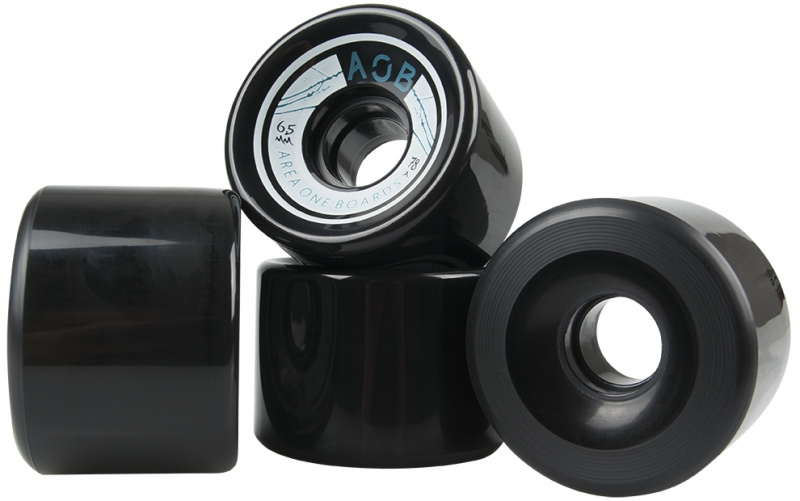 AOB kolečka 4 ks černá
