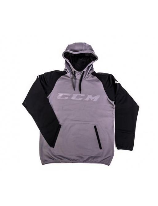 Mikina CCM GoDark Pullover YTH, XL,Dětské,šedá-černá
